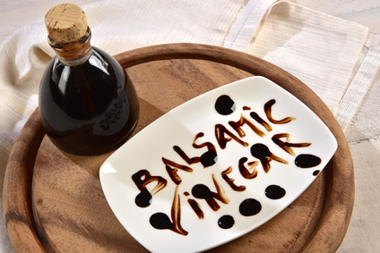Aceto balsamico e scritta